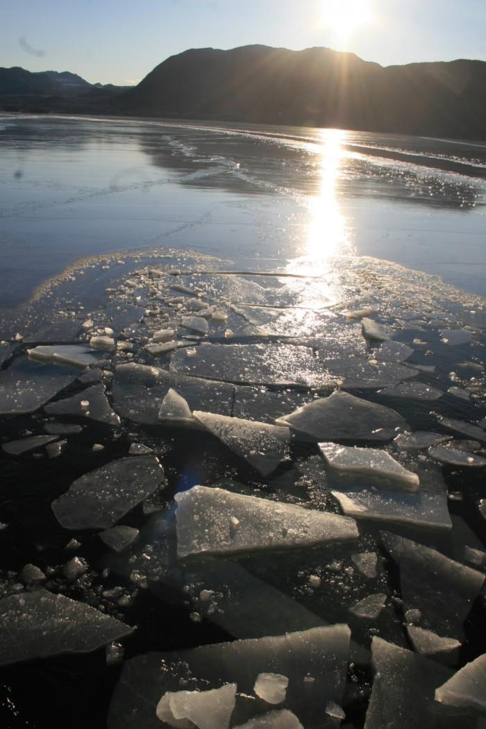 Fjord norvégien gelé