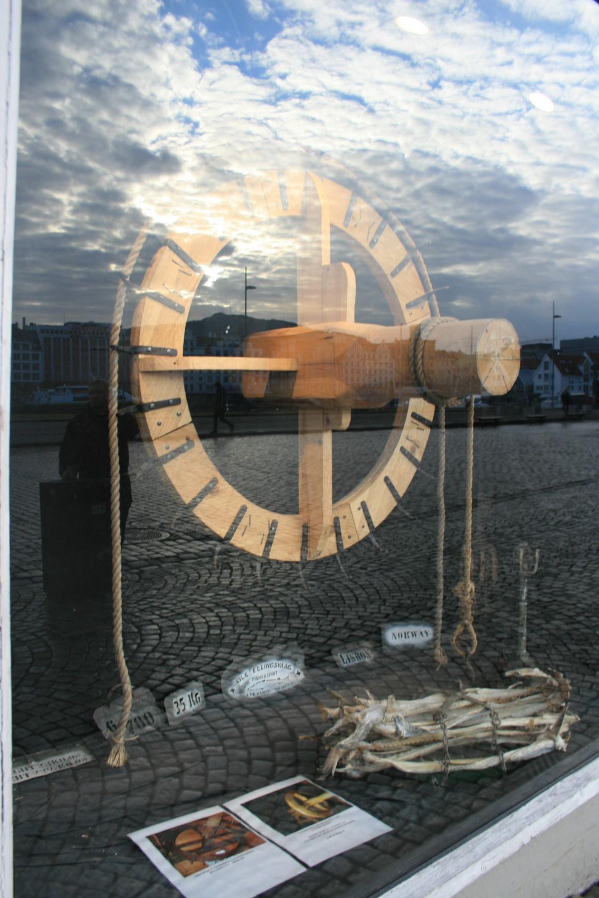vitrine de pêcheurs à Bergen, Norvege