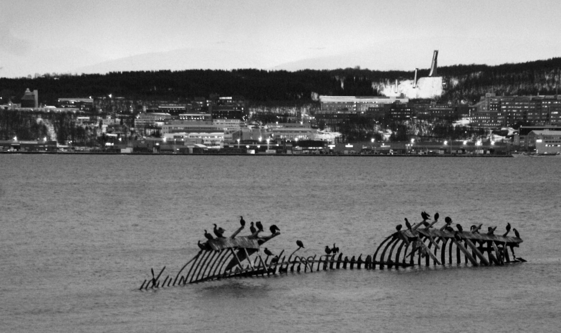épave de bateau à Tromso