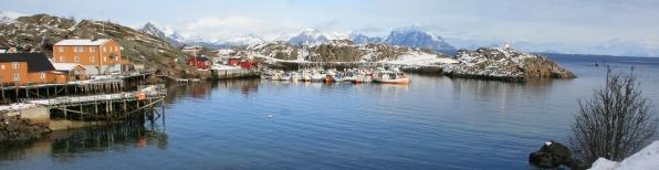 Port de Stamsund, Lofoten. Avril 2012