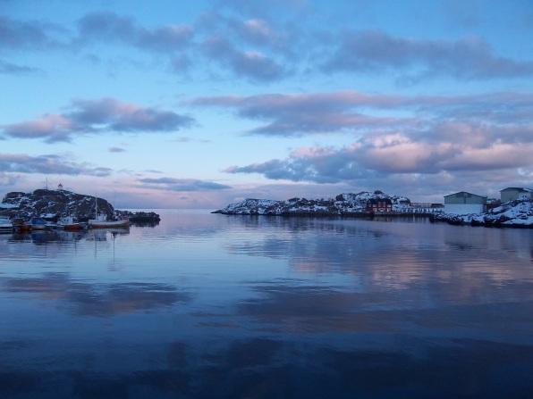 Nuages à la fin du jour, Stamsund, Lofoten. Avril 2012