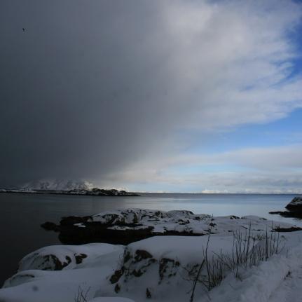 La tempête arrive. Stamsund, Lofoten. Avril 2012
