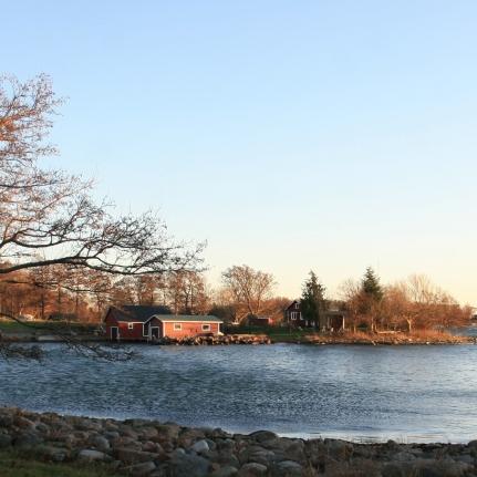 Panoramique sur les Ålands, Finlande (novembre 2011)