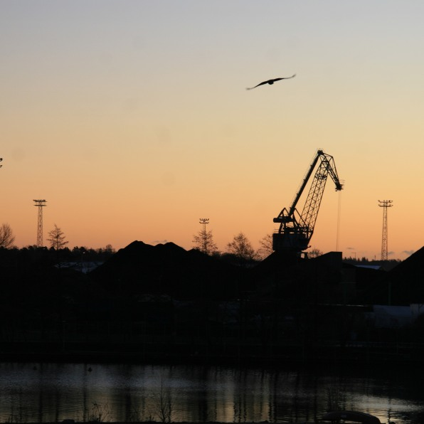 Dernier lever de soleil à Helsinki, Finlande (novembre 2011)