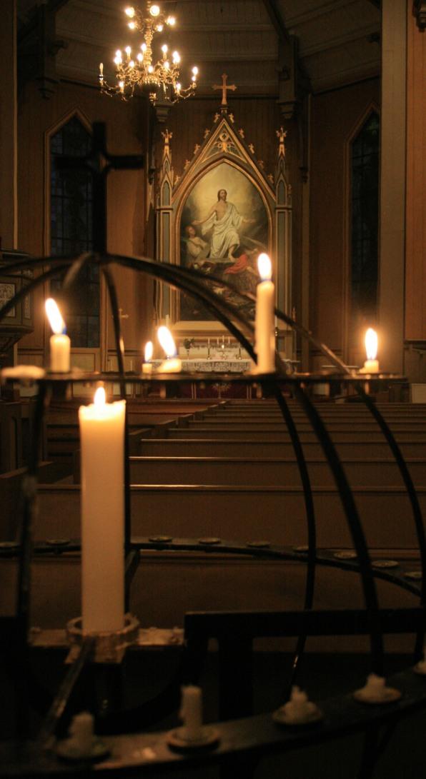 Eglise à Tromsø, décembre 2010