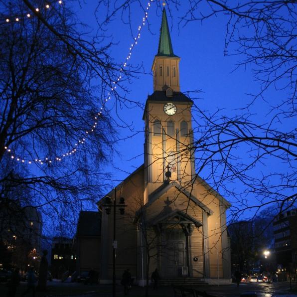 Eglise bleue à Tromsø, décembre 2010