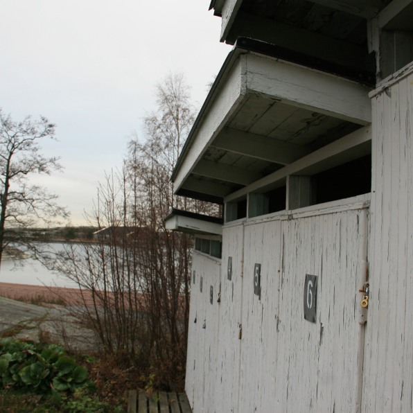 Vestiaires hors saison, Helsinki, Finlande (novembre 2011)