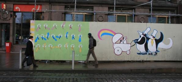 Tags de chantiers, Helsinki, Finlande (novembre 2011)