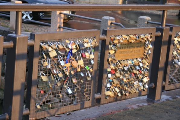 Pont des amoureux, Helsinki, Finlande (novembre 2011)