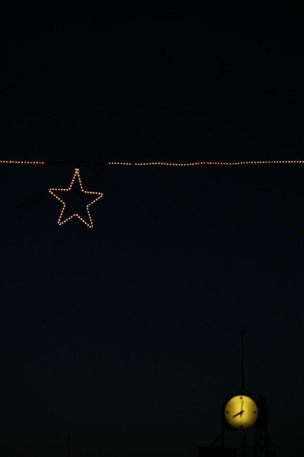 L'étoile et l'horloge, Mariehamm, Ålands, Finlande (novembre 2011)