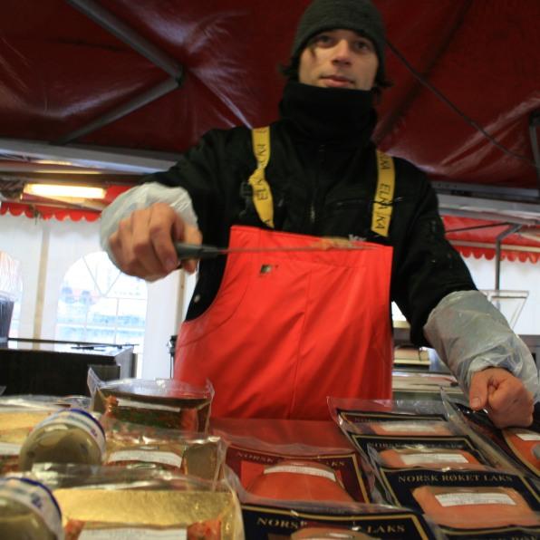 Marché aux poissons, Bergen, novembre 2010