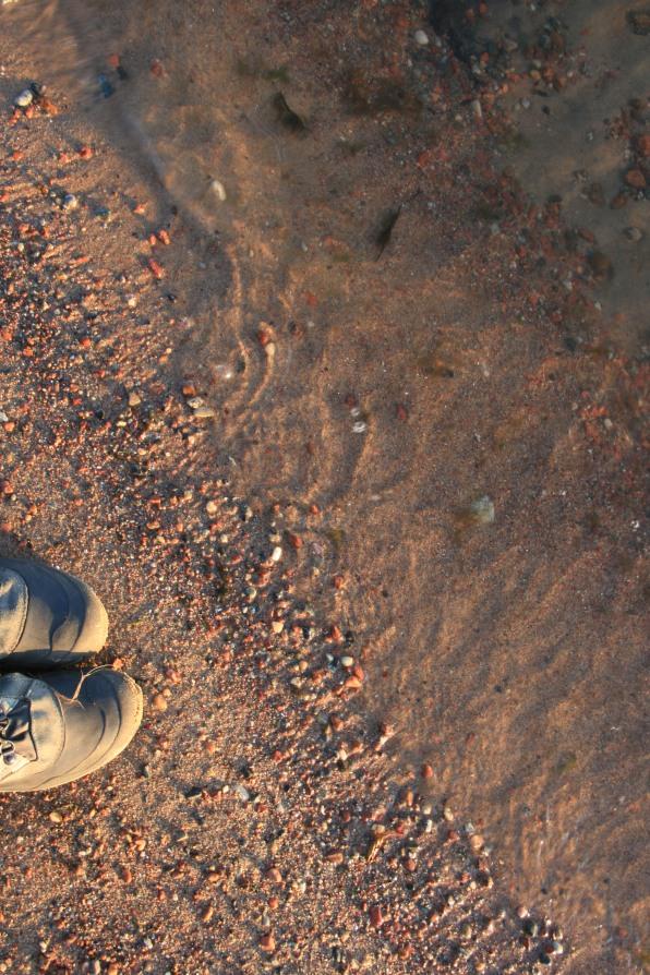 Portrait au sable, Ålands, Finlande (novembre 2011)