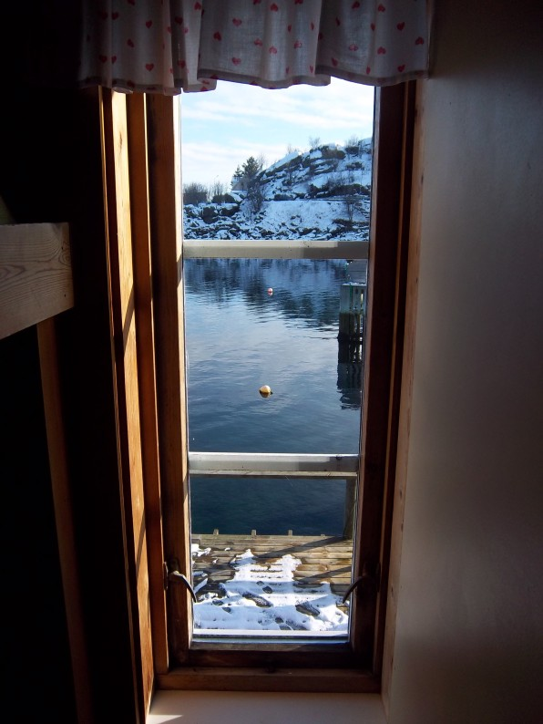 Vue de la chambre, Stamsund, Lofoten, mars 2012