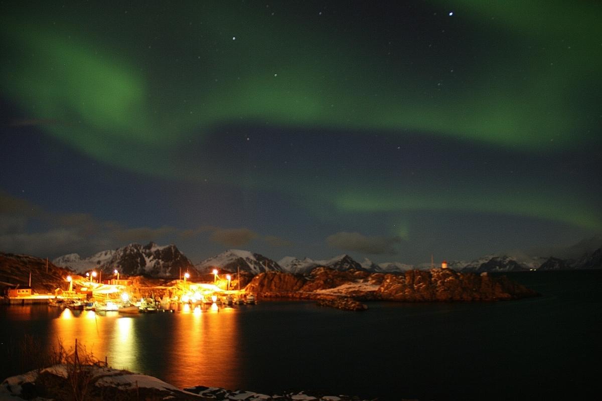 Aurores boréales #6 sur les Lofoten, Norvège