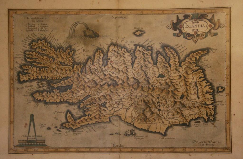 Islande en 1540 / carte musée Skogar