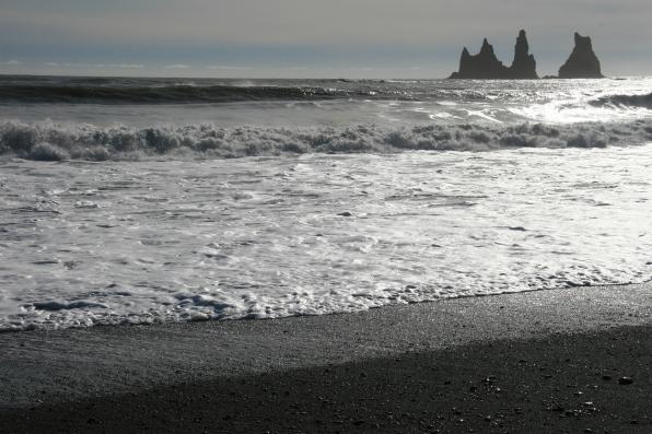 Vik et sa plage de sable noir, Islande, septembre 2012