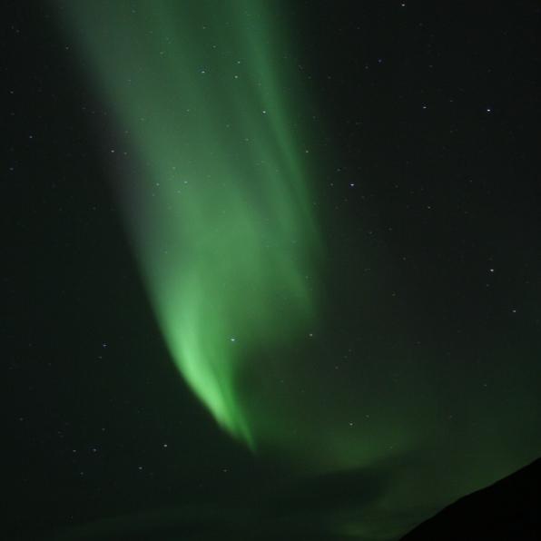 Aurore boréale, Heydalur, Islande, septembre 2012