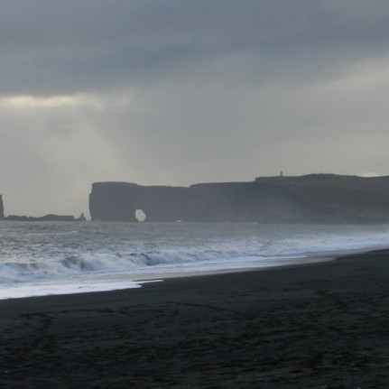 Dyrhólaey sous l'orage, Islande, septembre 2012
