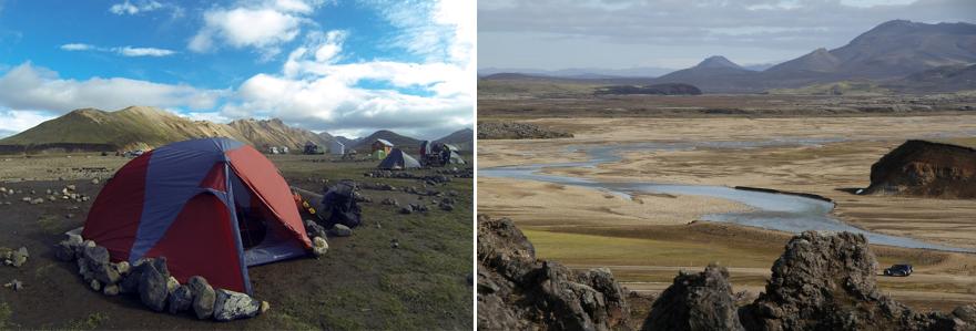 camping à landmannalaugar