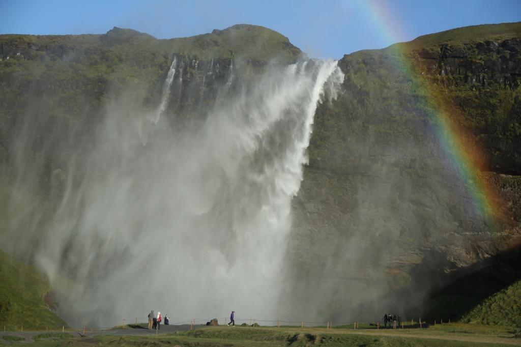 Seljalandsfoss_cascade qui s'envole