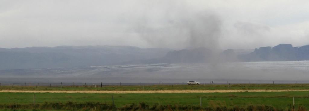 Skaftafell tempête de sable