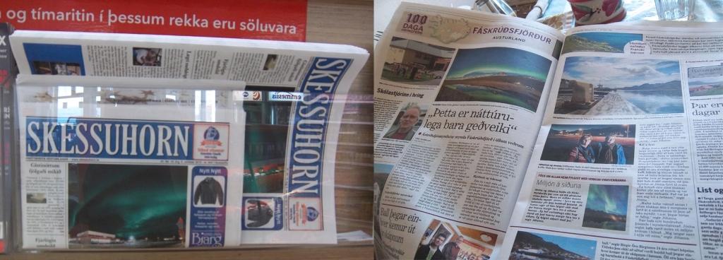 aurores boréales dans le journal