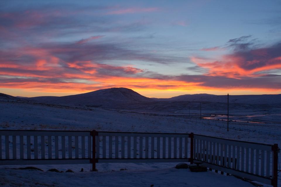 nuit polaire en islande novembre