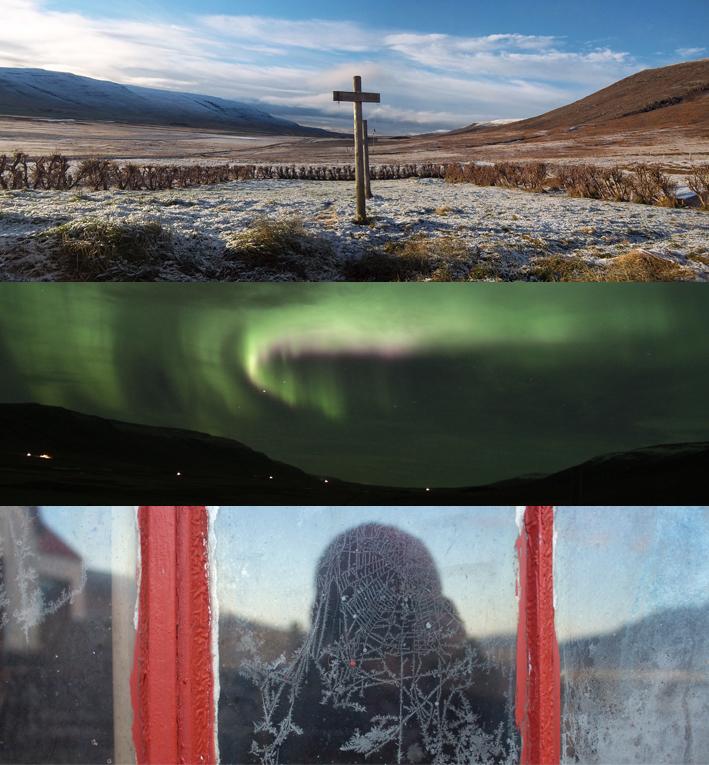 triptyque dans ma vallée / aurores boréales en Islande