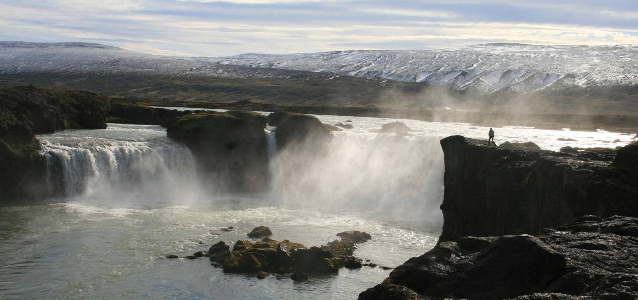 godafoss cascade Myvatn