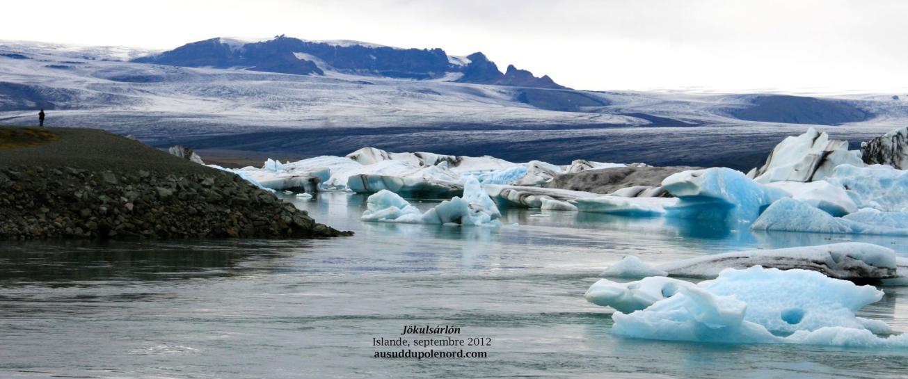 Jokulsarlon panoramique iceberg et glaciers
