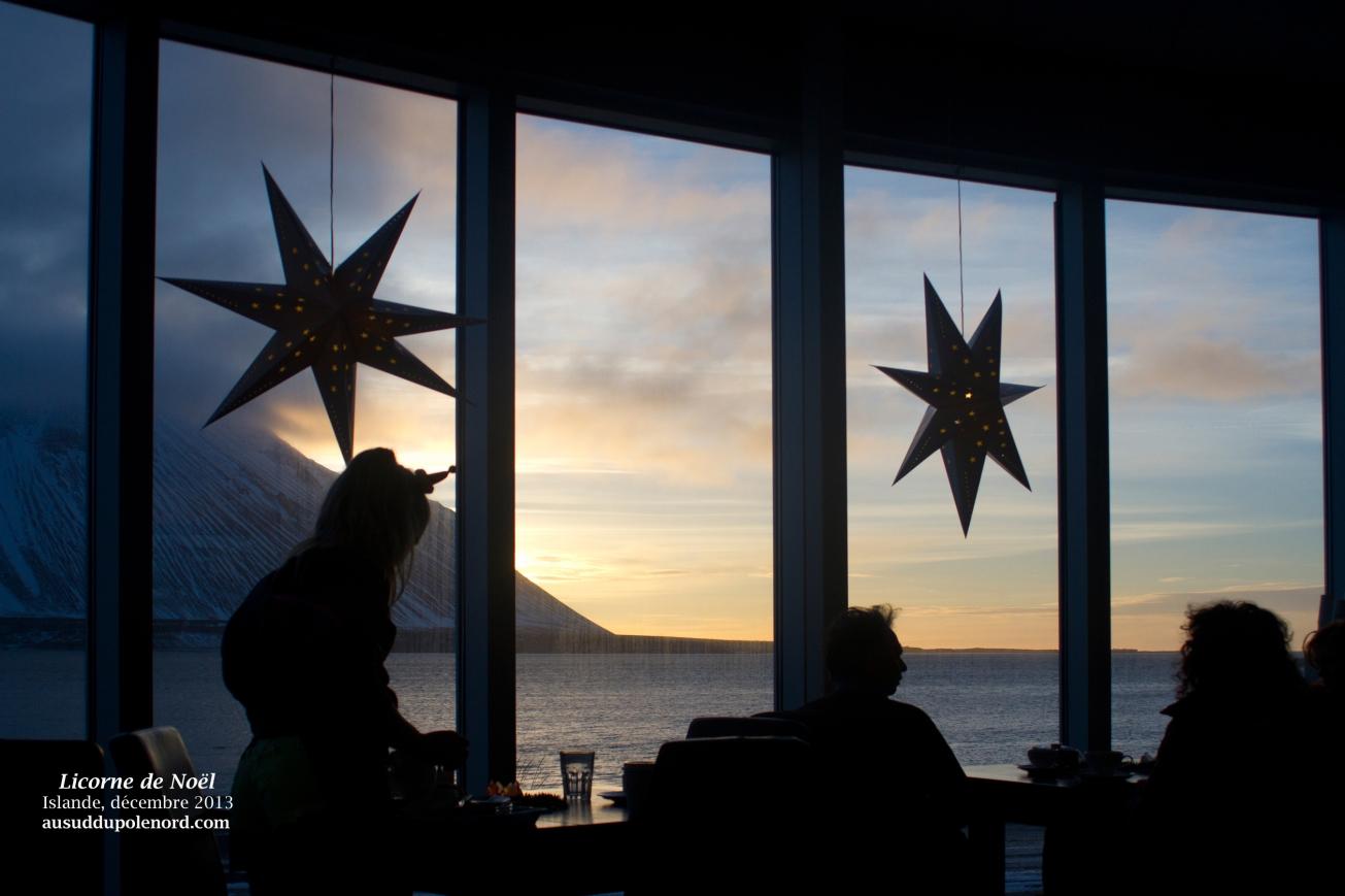 Coucher de soleil depuis Borganes, Islande
