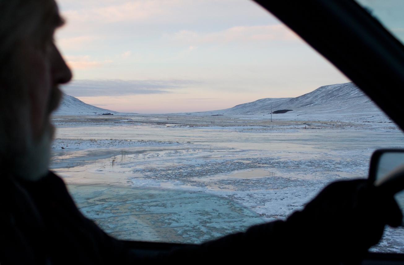 Rivière gelée voyage en islande décembre