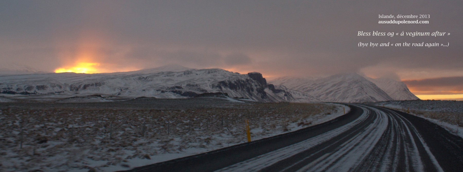 Hiver polaire on the road again en Islande