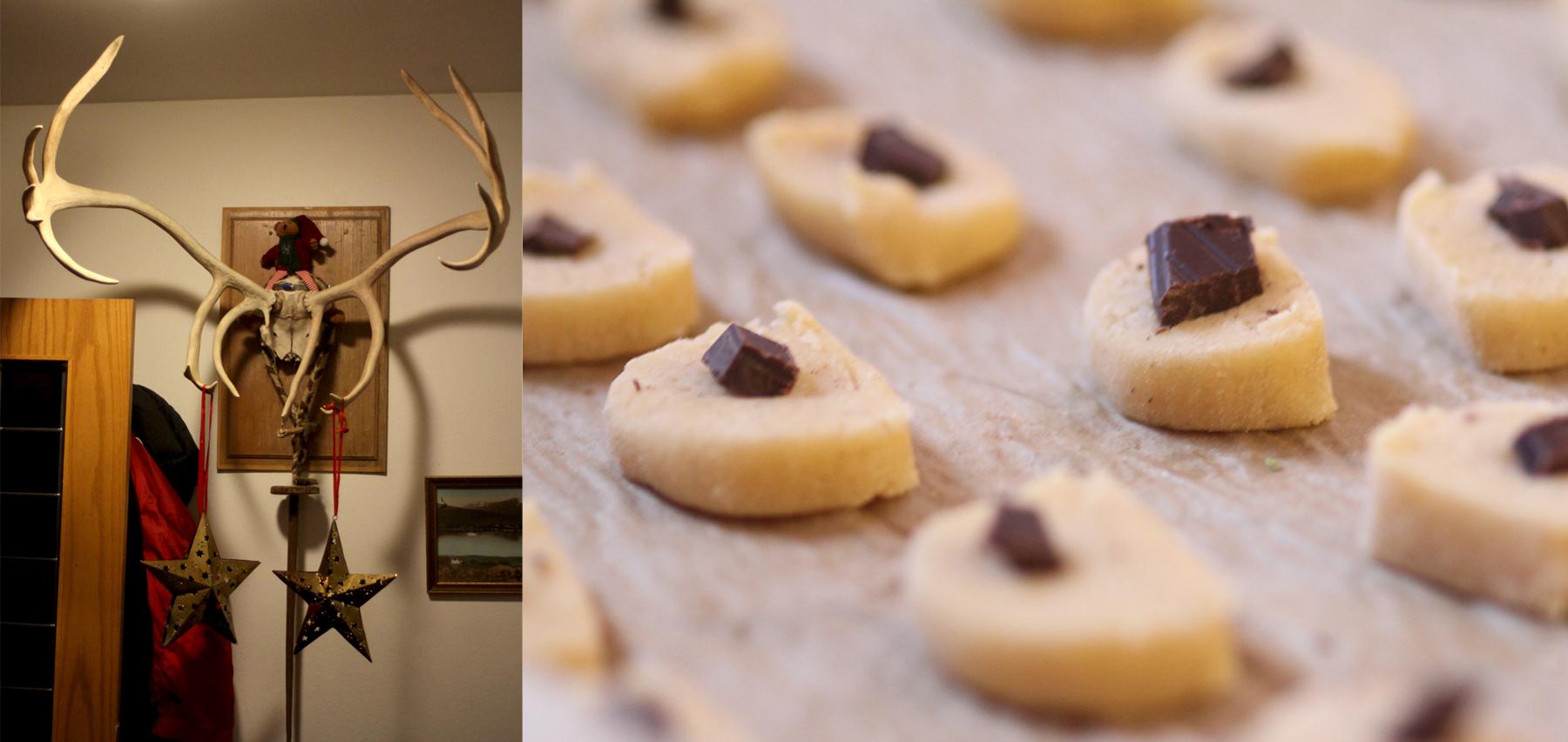 Sapin de Noël et cookies en islande