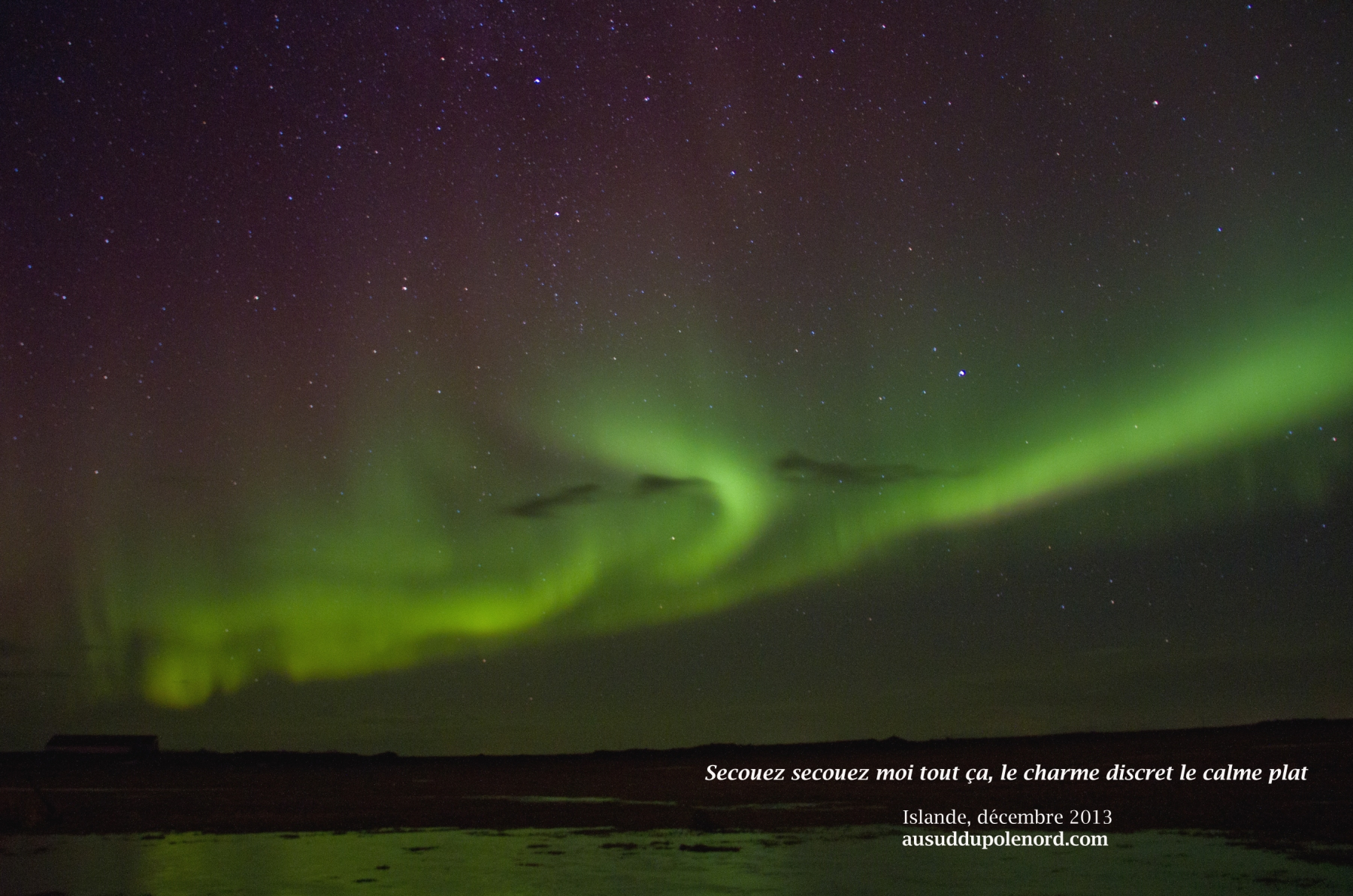 aurores boréales 23 janvier14 islande