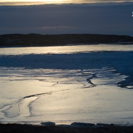 estuaire gelé Borganes