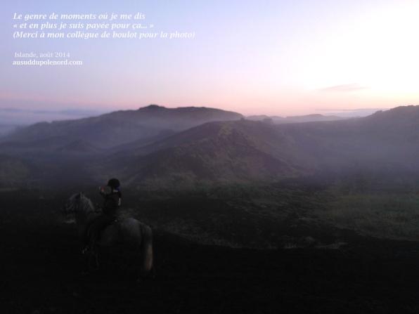 crateres islandais soleil et brume
