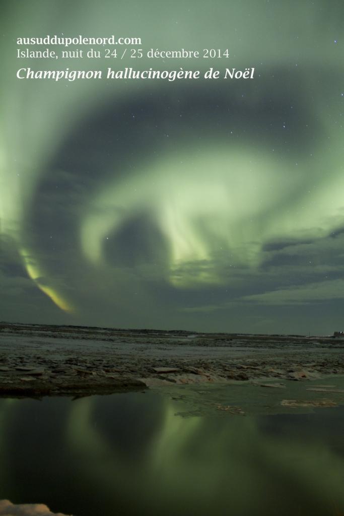aurore boreale Noel 24 decembre