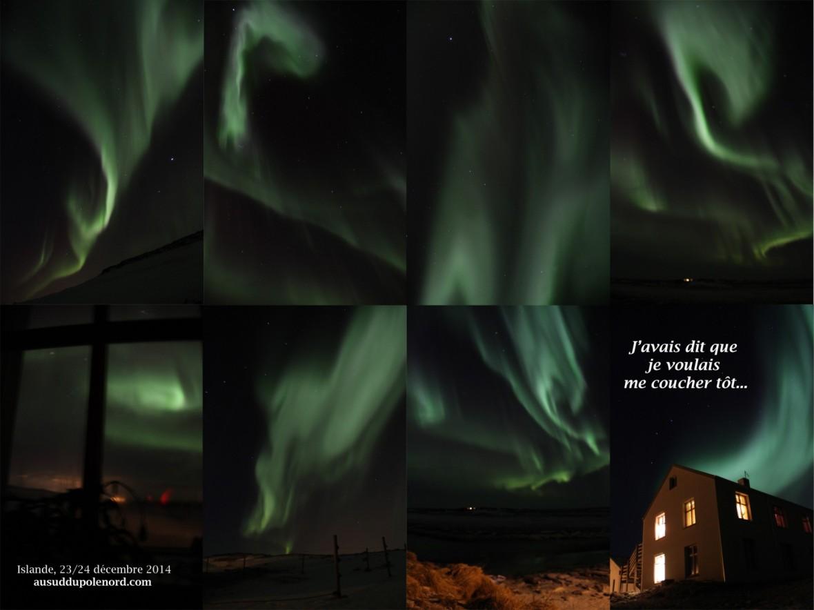 Christmas Northerm lights Iceland