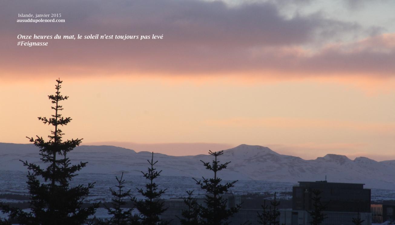 soleil islande hiver
