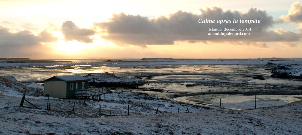 maison sur la plage en hiver islande