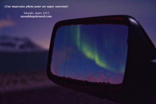 aurore boreale islande mars rétroviseur