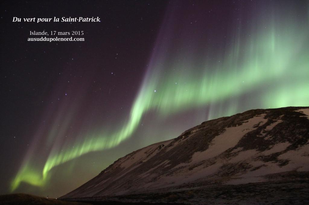 voir aurore boréale islande mars