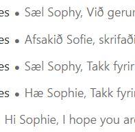 langue islandais